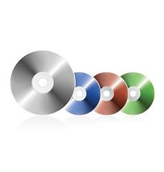 blank cd vector image