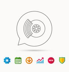 Brakes icon auto disk repair sign vector