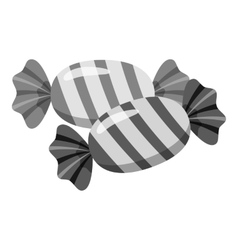 Candy icon gray monochrome style vector