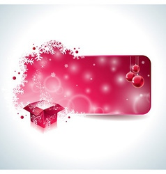Christmas design with magic gift box vector image