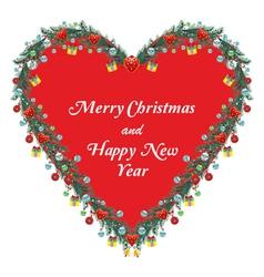 Christmas Ornamental Heart vector image
