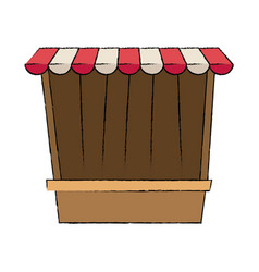 Circus game booths border wooden blank vector