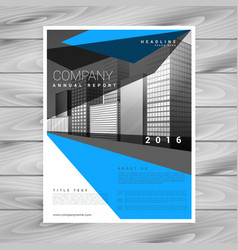 creative blue brochure flyer template for your vector image