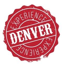 Denver stamp rubber grunge vector