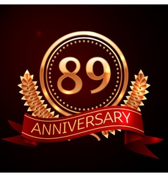 Eighty nine years anniversary celebration with vector