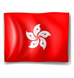 Flag of hongkong vector
