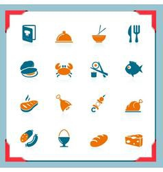food icons - in a frame series vector image