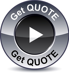 Get quote round button vector