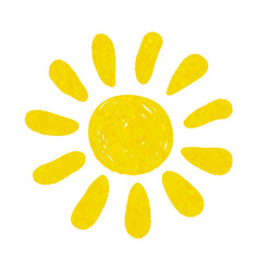 Hand drawn watercolor sun icon design for holiday vector