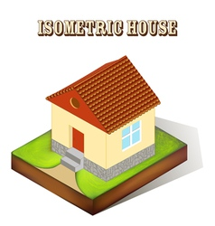 house with a window in perspective vector image