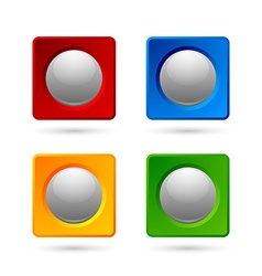 Icon or button backgrounds vector image vector image