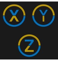 Letter logo set vector image