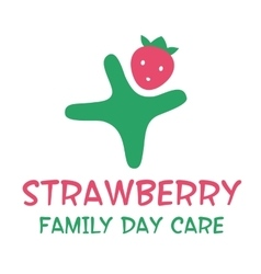 Logo for kindergarten and Family Day Care vector image