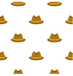 Man hat pattern flat vector
