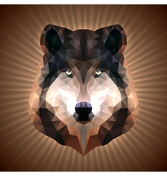 Polygonal Wolf vector image
