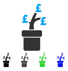 Pound business project plant flat icon vector