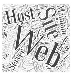 Putting your web site on the internet word cloud vector
