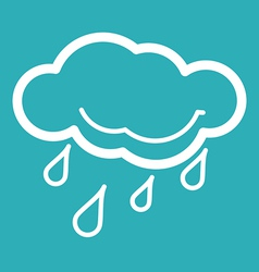 Rain Weather Icon vector image