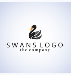 Swans ideas design on background vector