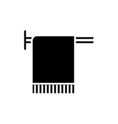 towel in spa icon black sign vector image vector image