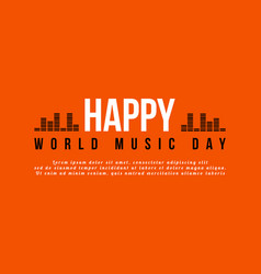 World music day celebration background style vector