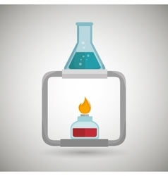 Burner tube lab chemistry vector