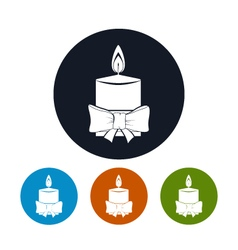Icon christmas festive candle vector