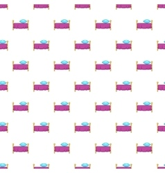 Hotel bed pattern cartoon style vector image