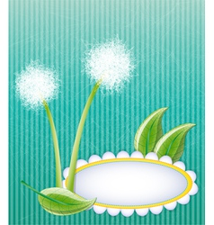 Green layout with dandelions vector