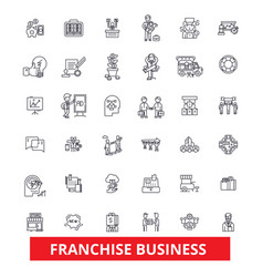 Franchise network opportunity small business vector