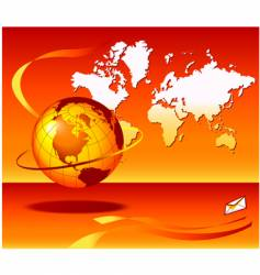 globe map email vector image