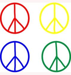 Set of peace symbols vector image