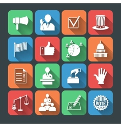 Elections icons set vector image