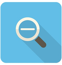Zoom out icon vector