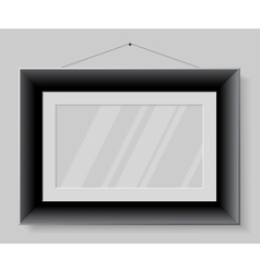 Black frame isolated on grey background vector