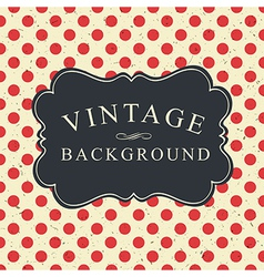 Polka dot vintage card vector