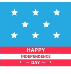 Stars srips background happy independence day vector