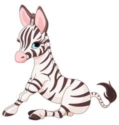 Zebra foal vector