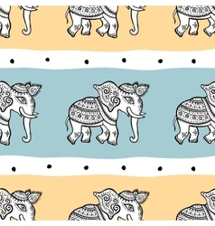 Elephants seamless pattern vector