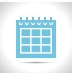 Calendar icon epsflat color0 vector