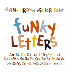 Abc alphabet funky letters children fun colorful vector
