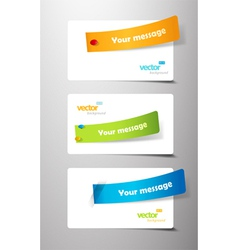 Set of colored ribbons on gift cards vector