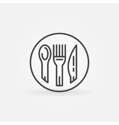 Spoon fork and knife icon vector