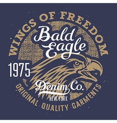 Eagle print 003 vector image