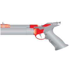 Air pistol vector