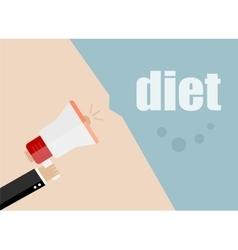 Diet megaphone icon flat design business vector