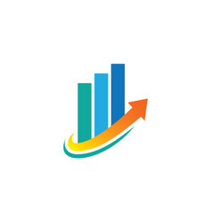 arrow business finance logo vector image vector image
