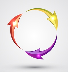 Arrow circle - cycle vector