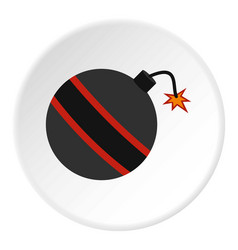 Bomb ready to explode icon circle vector