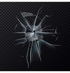 Broken glassware window or damaged screen vector